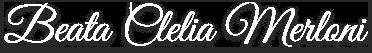 Assinatura Madre Clélia Merloni.